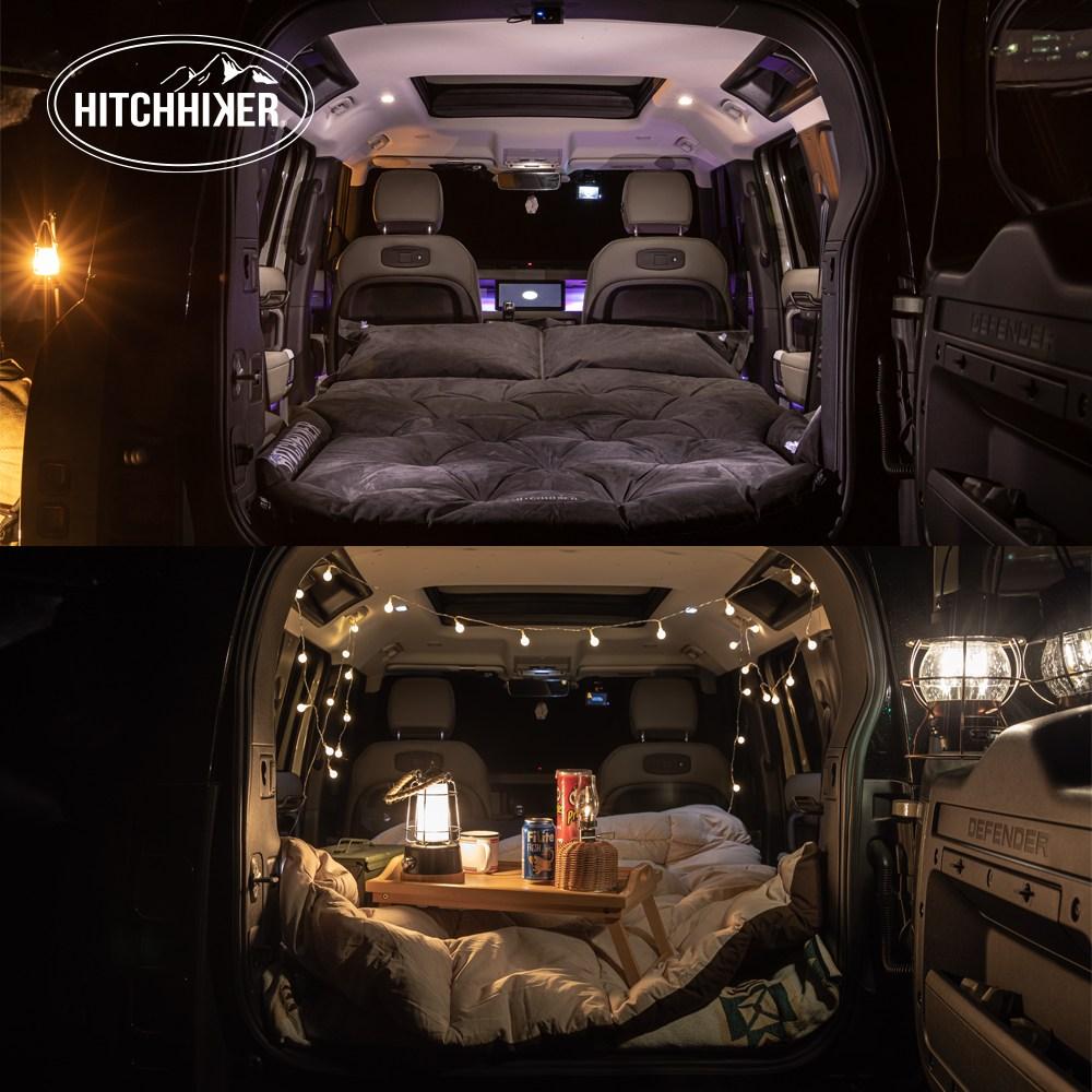 [HitchHiker] 차박매트 에어자충매트 SUV차박매트 감성캠핑 캠핑용품, 블랙에디션