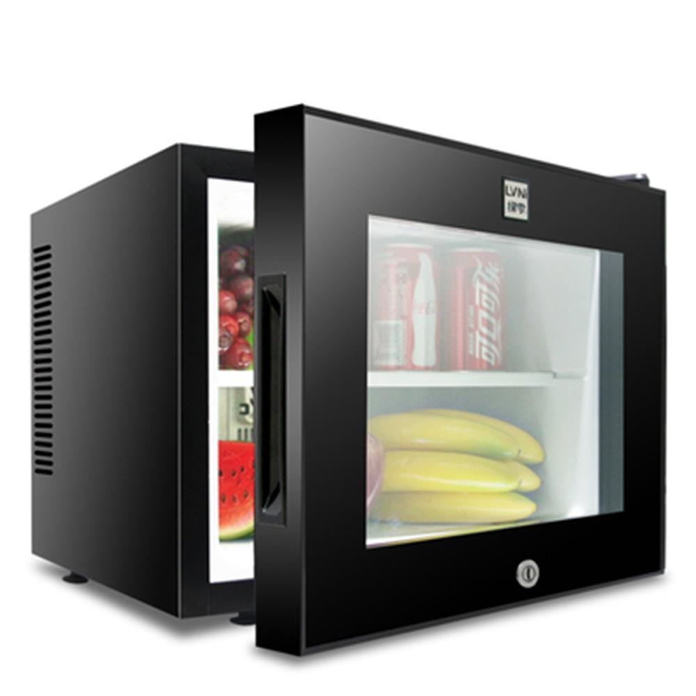 LVNI 30리터 소형 쇼케이스 냉장고 블랙 미니 술장고 음료수 술, 20리터