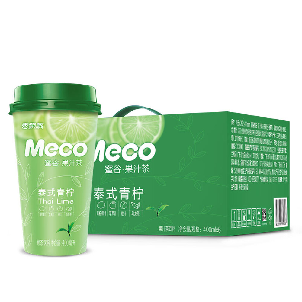 others 향 긋 한 Meco 꿀 곡 주스 차 태국 식 라 임 맛 400 ml 6 컵 즉 음료 박스, 상세페이지 참조