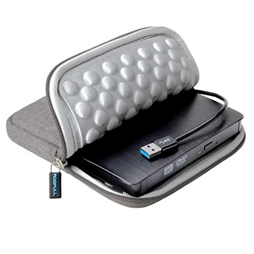 루후후루 USB 3.0 보호 저장 케이스 가방 휴대용 CD DVD ROM -RW 드라이브 버너 라이터 Windows 10 8 7 Linux 및 Mac 노트북 데스크탑 MacBook Pro Air iMac, 본상품