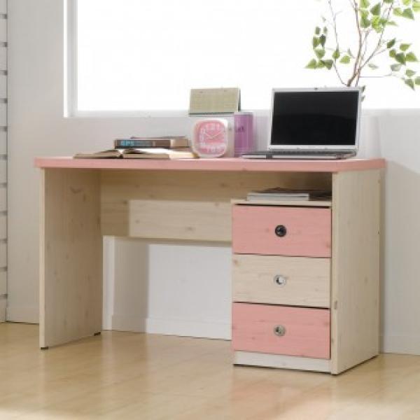 MJO3037151200 서랍 세트 아델라 책상 입식+3단, 핑크워시