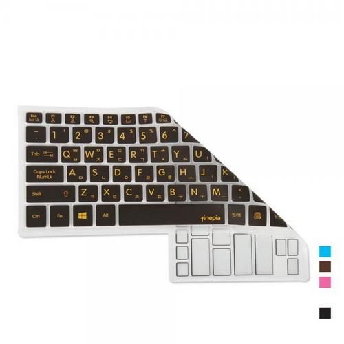 [바보사랑]HP 15-cs0128TX 용 문자인쇄키스킨, 화이트, 선택