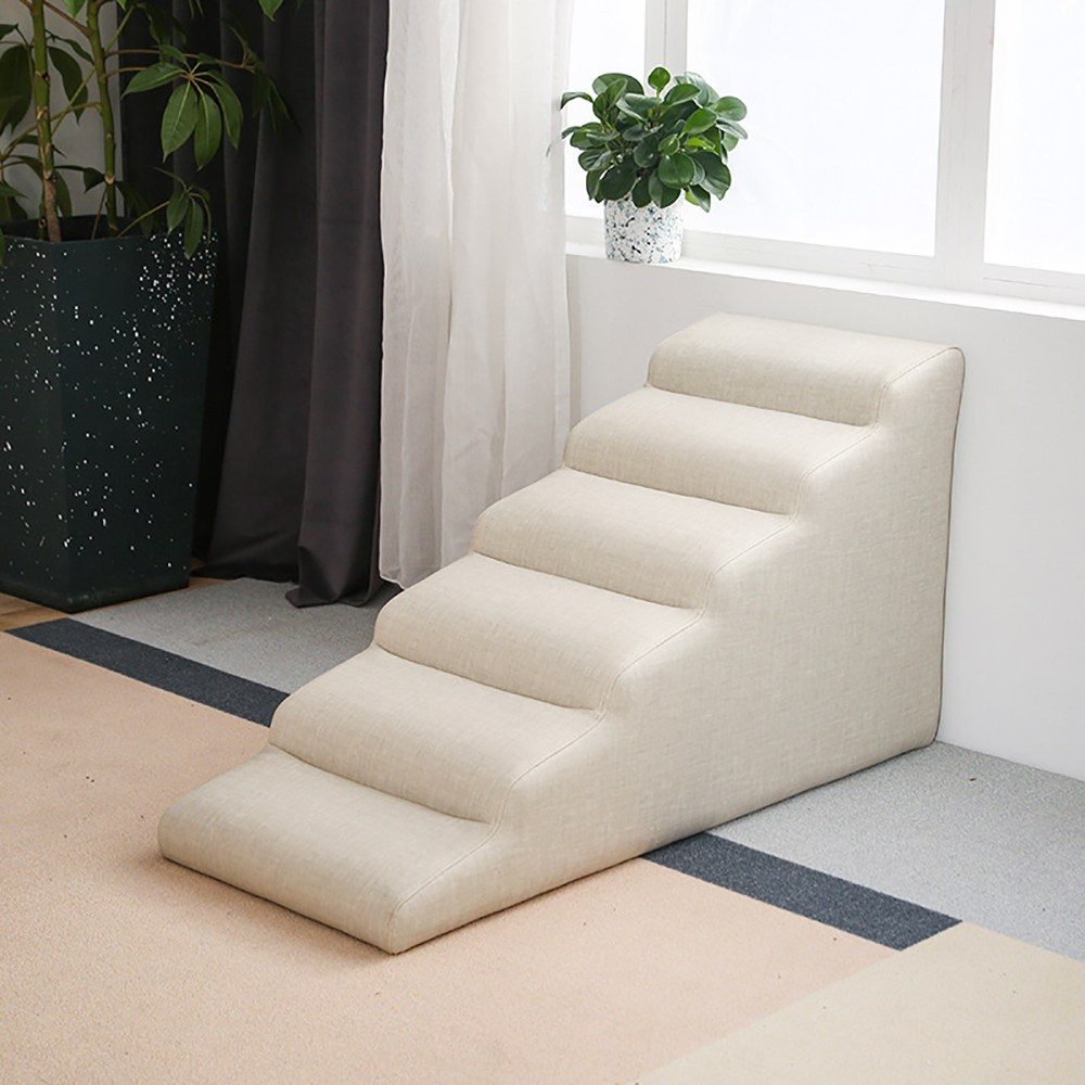 강아지계단 강아지슬라이드계단 논슬립 방수 계단, 베이지