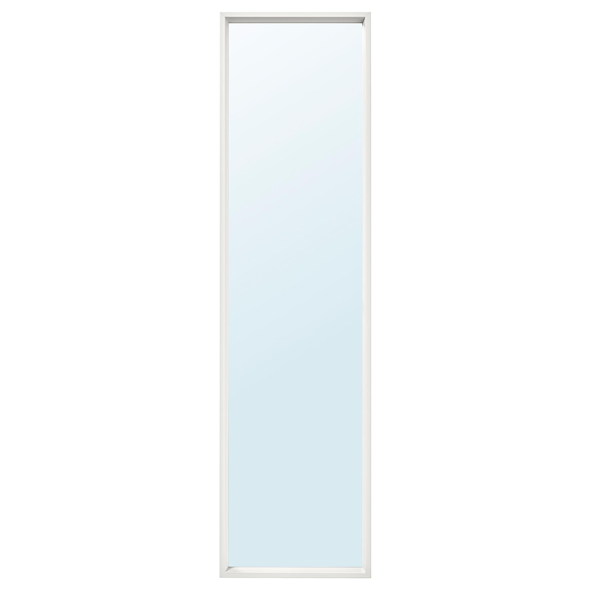 이케아 NISSEDAL 니세달 거울 40x150 cm, 화이트 903.203.23