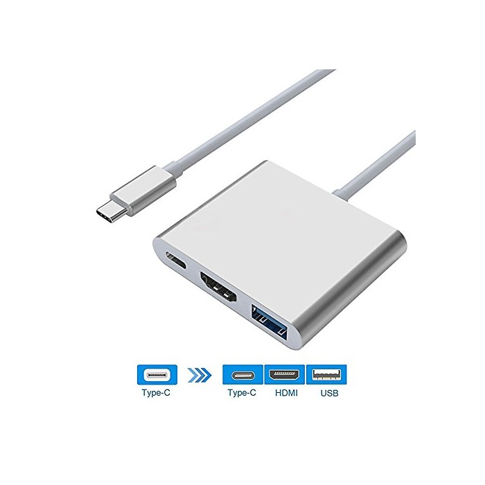 애플어댑터 USB-C to HDMI Adapter 4K USB-C to USB 3