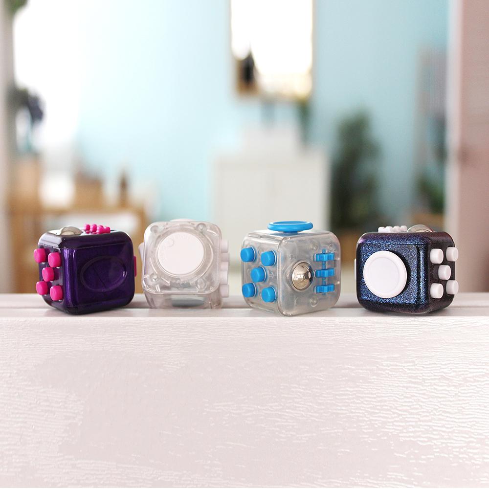 아이디어브리지 정품 Antsy labs 피젯큐브 스트레스 해소 키덜트 피젯 토이 장난감, 클리어화이트