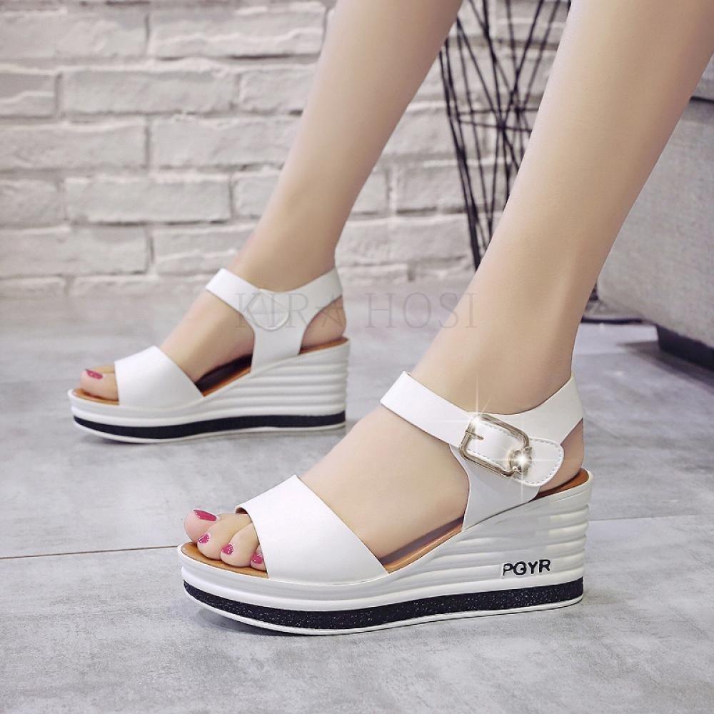 kirahosi 여성 2020 여름 신발 샌들 키높이 캐주얼 444호+덧신증정 BDfcaa4r