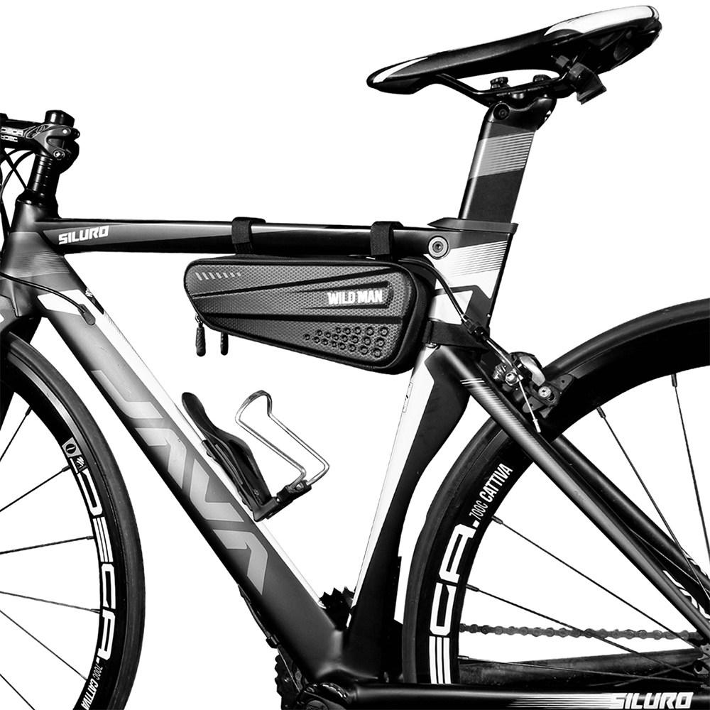 와일드맨 자전거 삼각 프레임 가방 듀얼포켓 방수