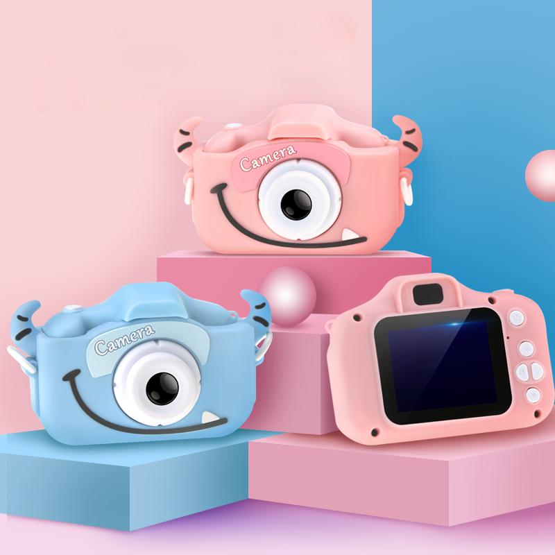 어린이 디지털 카메라 1200만화소 한글지원 (실리콘케이스 SD카드 증정) 어린이카메라, 핑크 고양이케이스