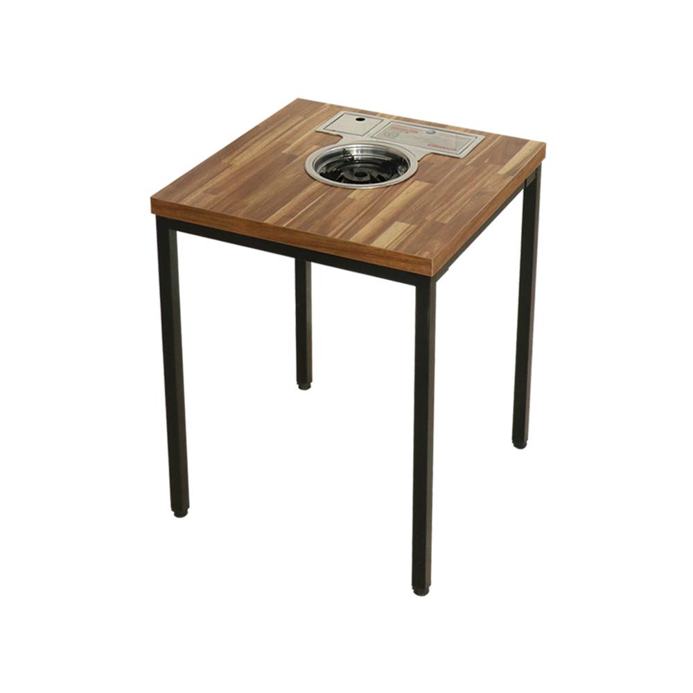 늘가구 미니불판식탁 입식테이블 2인용탁자 불판테이블 집에서 놀기, 입식-아카시아집성목