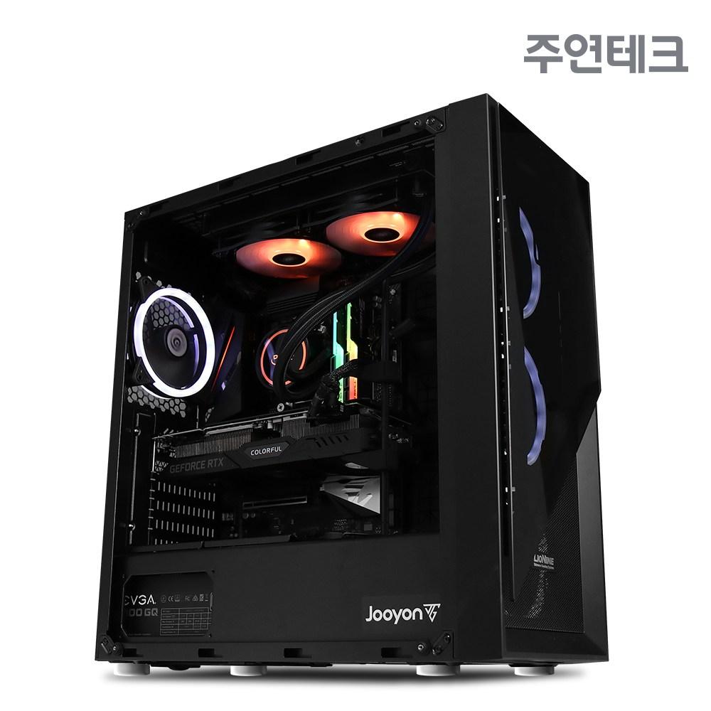 주연테크 LEX-17K38 하이엔드 게이밍PC (인텔 10th i7-10700K RTX3080(10G) Z490 DDR4 16G SSD 512GB WIN 미포함)