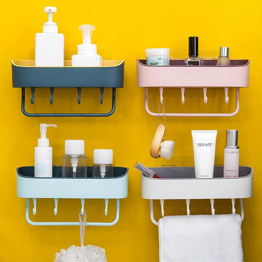 간편설치 욕실선반 소품수납 정리함 멀티선반, 멀티선반-핑크