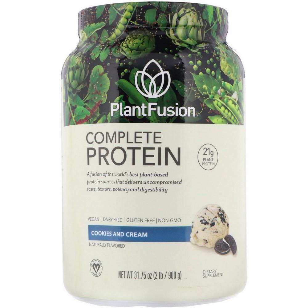 [미국직구]PlantFusion 컴플리트 프로틴 쿠키 앤 크림 900g(2lb), 선택, 상세설명참조