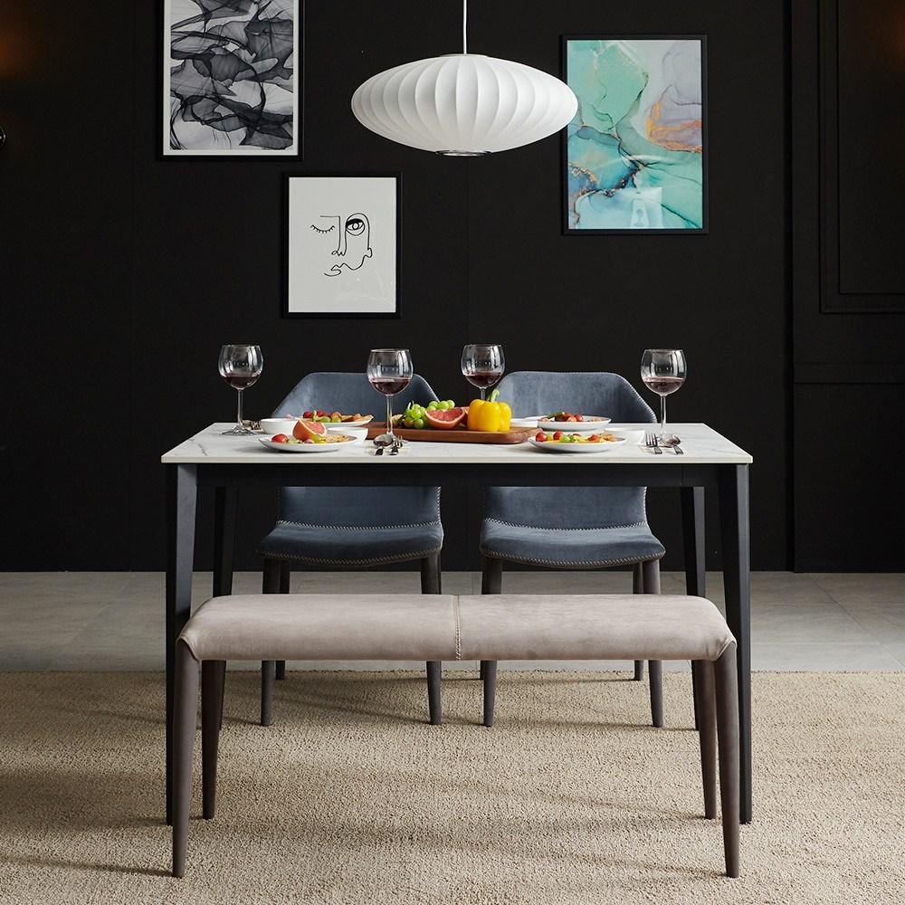 보니애가구 팬시 통 세라믹 4인용 식탁, 테이블 단품