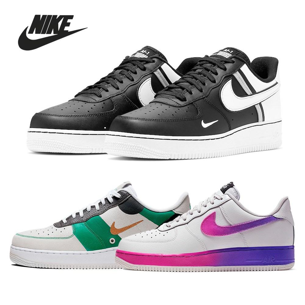 Nike 나이키 에어포스 1 로우 15종 모음 LV8 스우시 블랙 남자 커플 신발 운동화 스니커즈