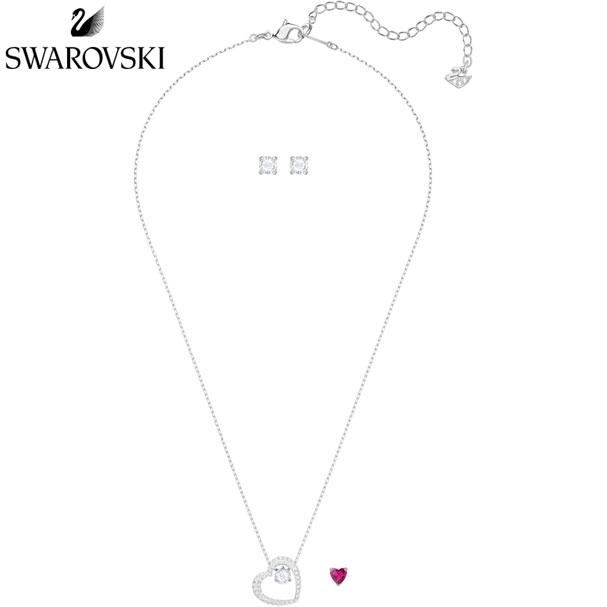 스와로브스키 Love 여성 목걸이 귀걸이 세트 5391766