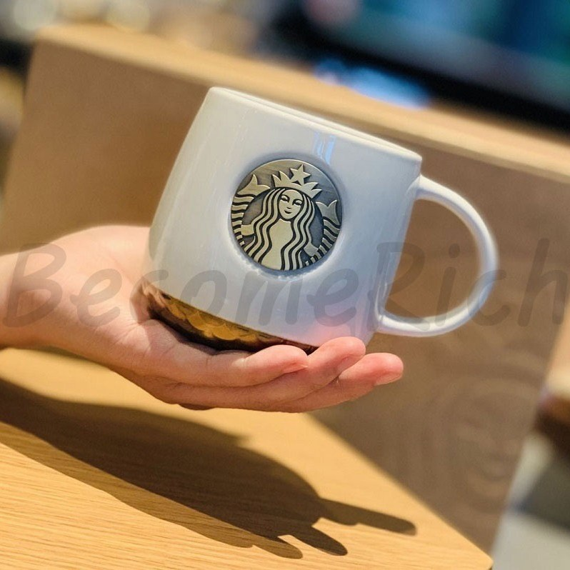 스타벅스 스벅 머그컵 머그잔 커피잔 황동싸이렌 머그, 1개, 화이트 일반박스