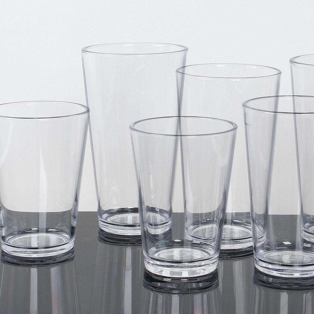 투명 트라이탄컵 TT타입 JU 카페 물 플라스틱 주방 컵, 13온스(375ml)