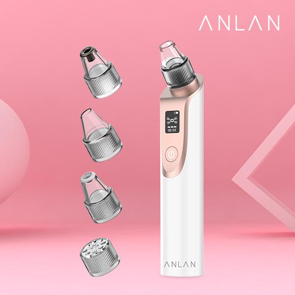 ANLAN 안란 X7 블랙헤드제거기 여드름압출기 모공관리 피부관리기, 화이트+골드, ALHTY03-01R