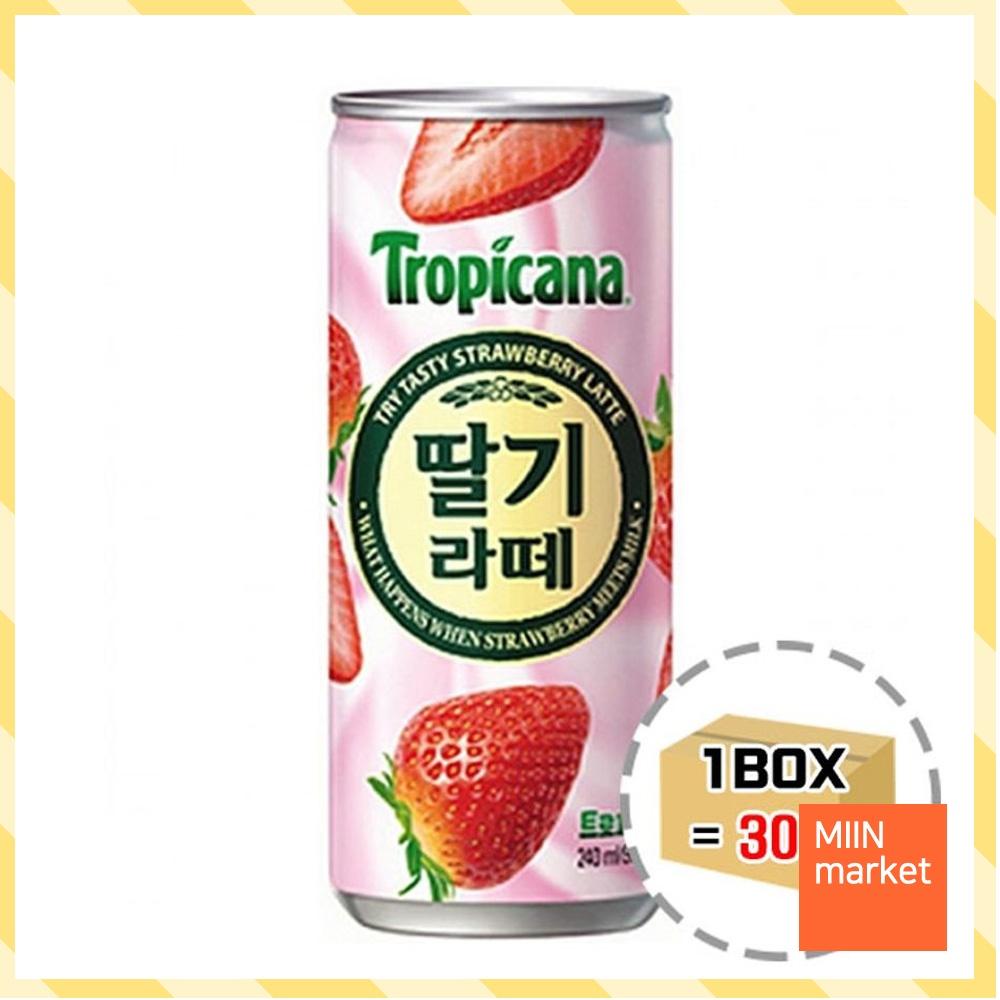 대용량 과일 딸기라떼 240ml 30캔 편의점 회사 음료수, 단일상품