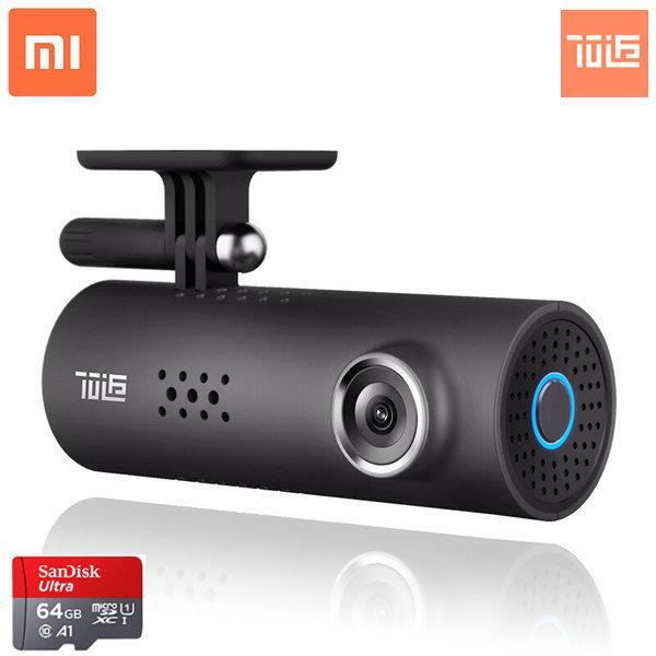 샤오미 미지아 70마일 1S WIFI 블랙박스 카메라 야간 관측 1080p, 1S+64G