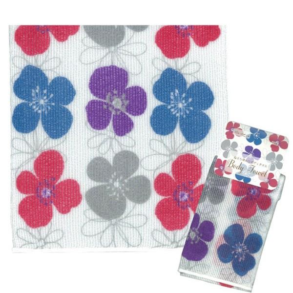 코지 샤워타올 (꽃/MADE IN JAPAN) - 364231, 단일상품