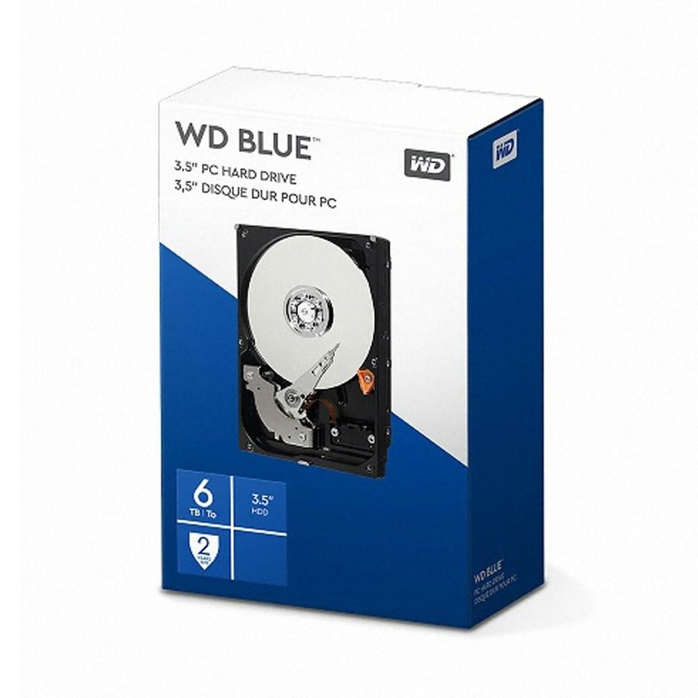 WD 정품 BLUE 6TB SATA3 3.5인치 HDD 5400rpm 데스크탑용 하드 WD60EZAZ 당일발송 (POP 4535533013)