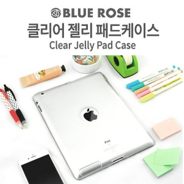 RMA682176(BLUE ROSE/블루로즈)아이패드미니(iPad mini) 클리어 젤리 패드케이스/아이패드미니2&3 호환(투명), 1