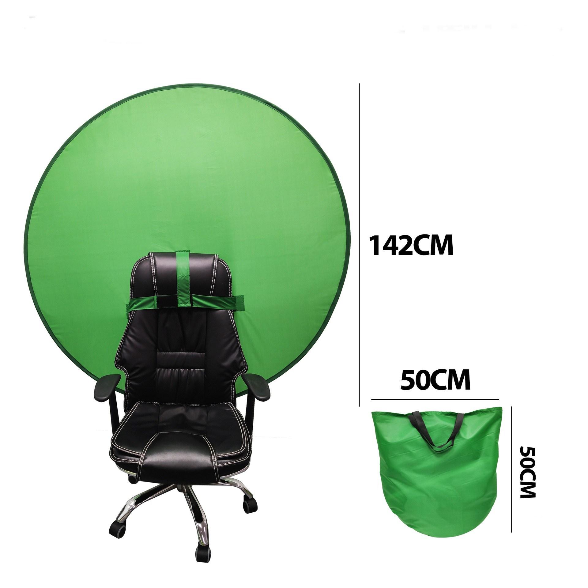 초간편 접이식 의자 탈부착 크로마키스크린 촬영용배경천