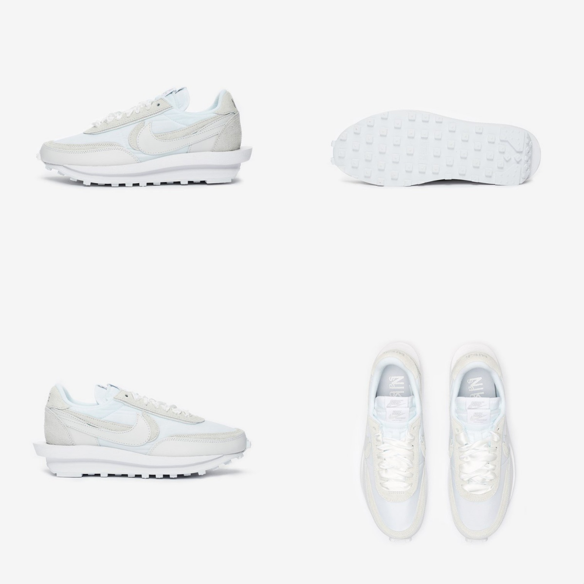 (해외배송) 100스퀘어 나이키 LD 와플 X 사카이 화이트 나일론 BV0073-101 White-White