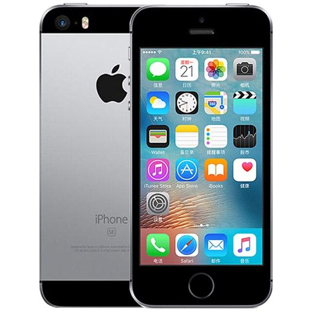 Original Apple A9 iPhone SE Smartphone Refurbish, Space Gray 691, iPhone SE A1723 64GB