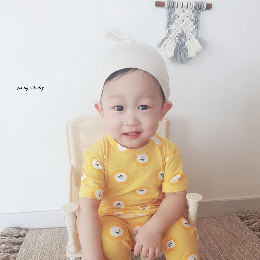 쏭스베이비 텔레파시 싱글스판유아내의 아동내의 유아실내복 아동실내복 잠옷 7부내의 베이비페어