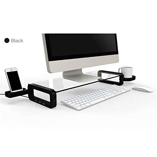 U-board UBOARD SMART - Tempered Glass Monitor Stand Shelf USB Multiboa, 상세내용참조