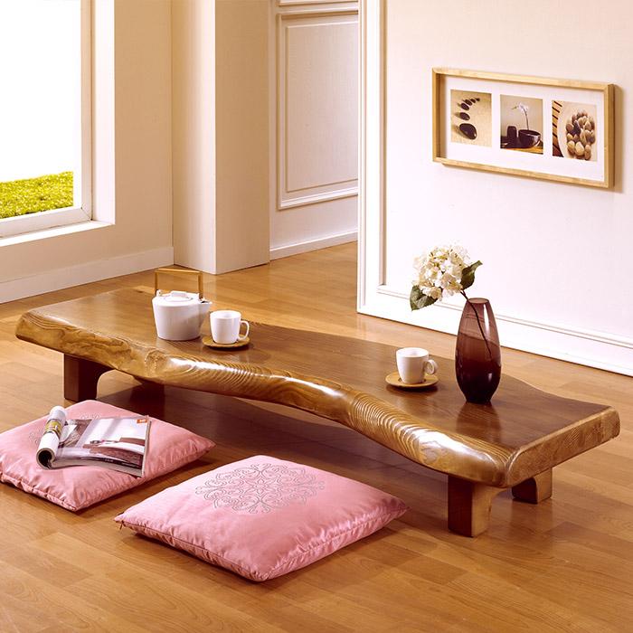 [마루엔개비]자연림 다용도 긴 테이블 120사이즈 원목좌탁