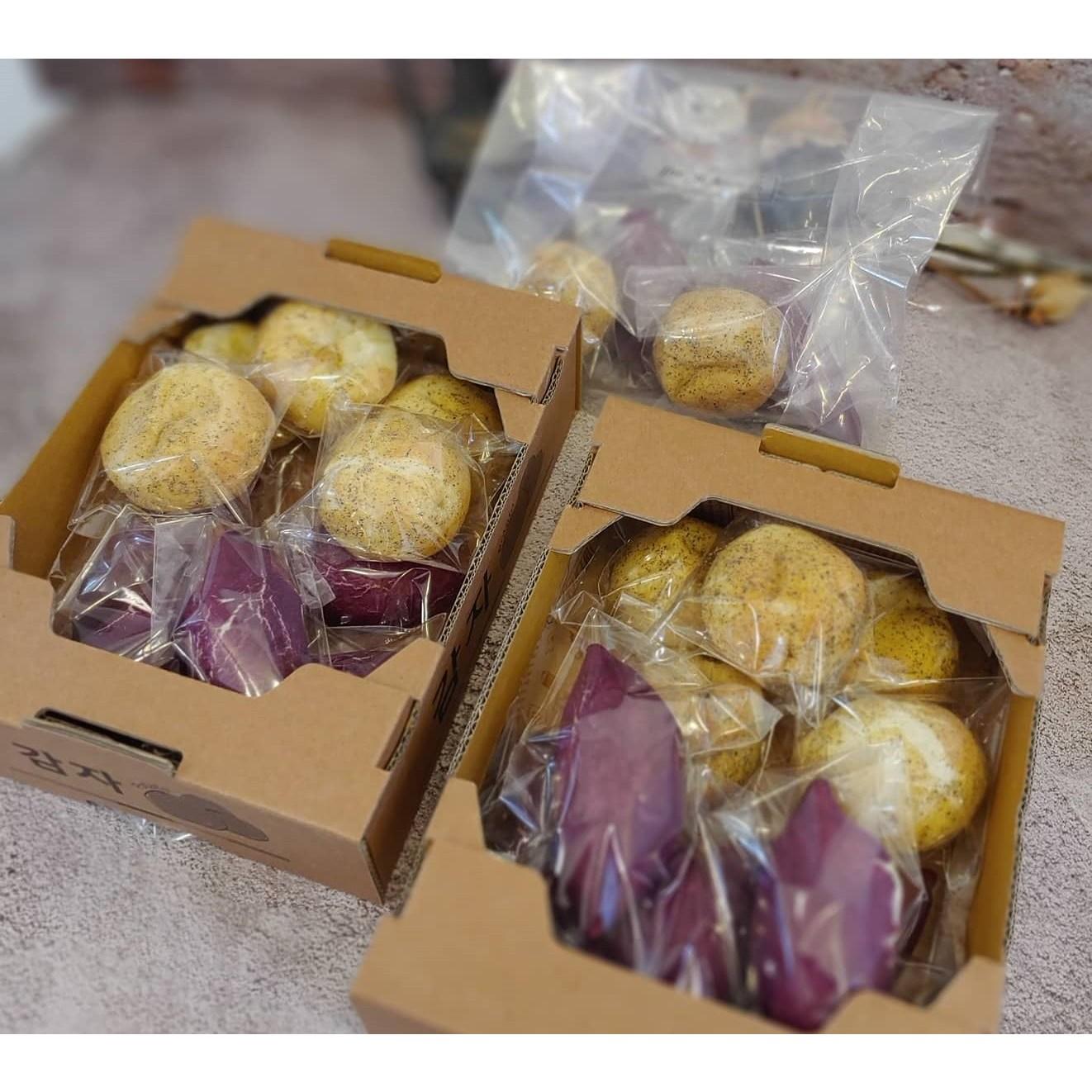 NO밀가루 색소 아이들 간식과 다이어트에 좋은 해남고구마빵 감자빵, 8개, 고구마빵