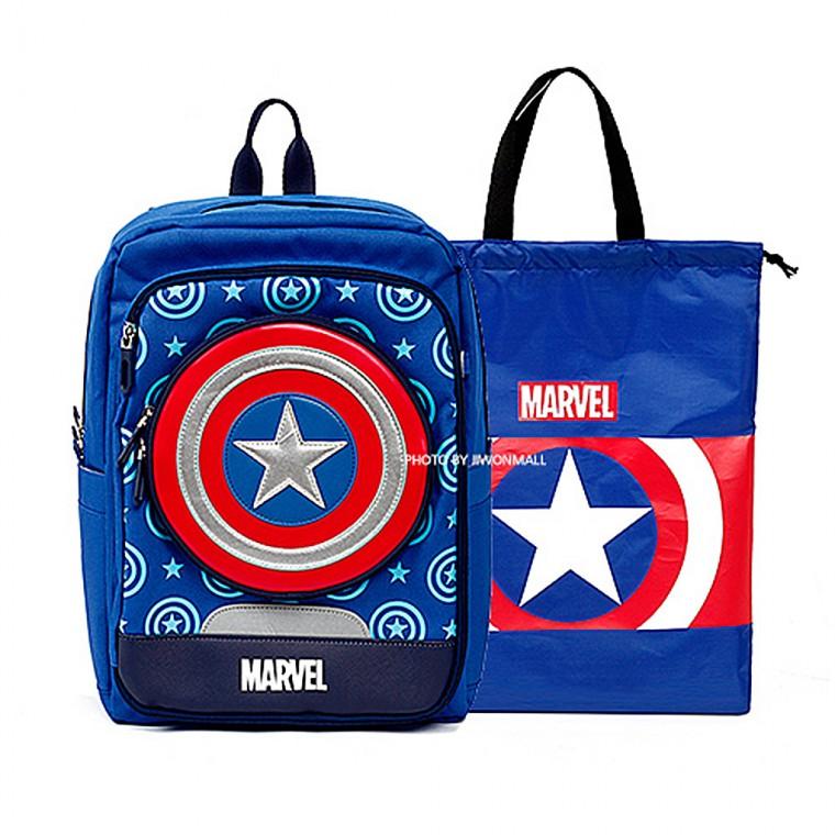 책가방세트 블루 마블 입학생 신학기 보조가방