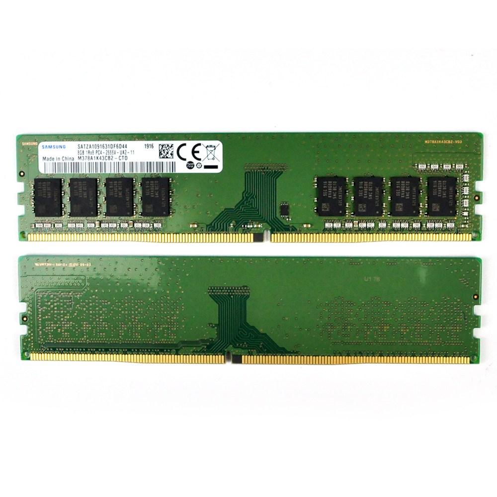 삼성전자 DDR4 8G PC4 21300 데스크탑 메모리 램 카드 2666MHz 정전기방지비닐포장(19년 4월 제조품) 데스크탑용, DDR4 8GB PC4 21300