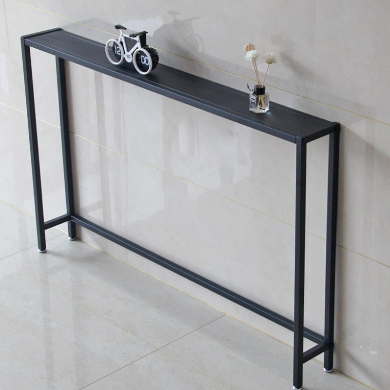 블랙프레임 콘솔 좁은 현관 선반 복도 테이블, 길이 120 x 너비 15 높이 75