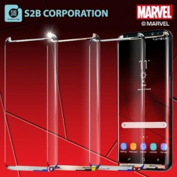 HKC27929 (S2B 갤럭시 S7엣지 (G935) (마블메탈 컬러 3D 강화 유리 필름 스파이더맨, 본 상품 선택
