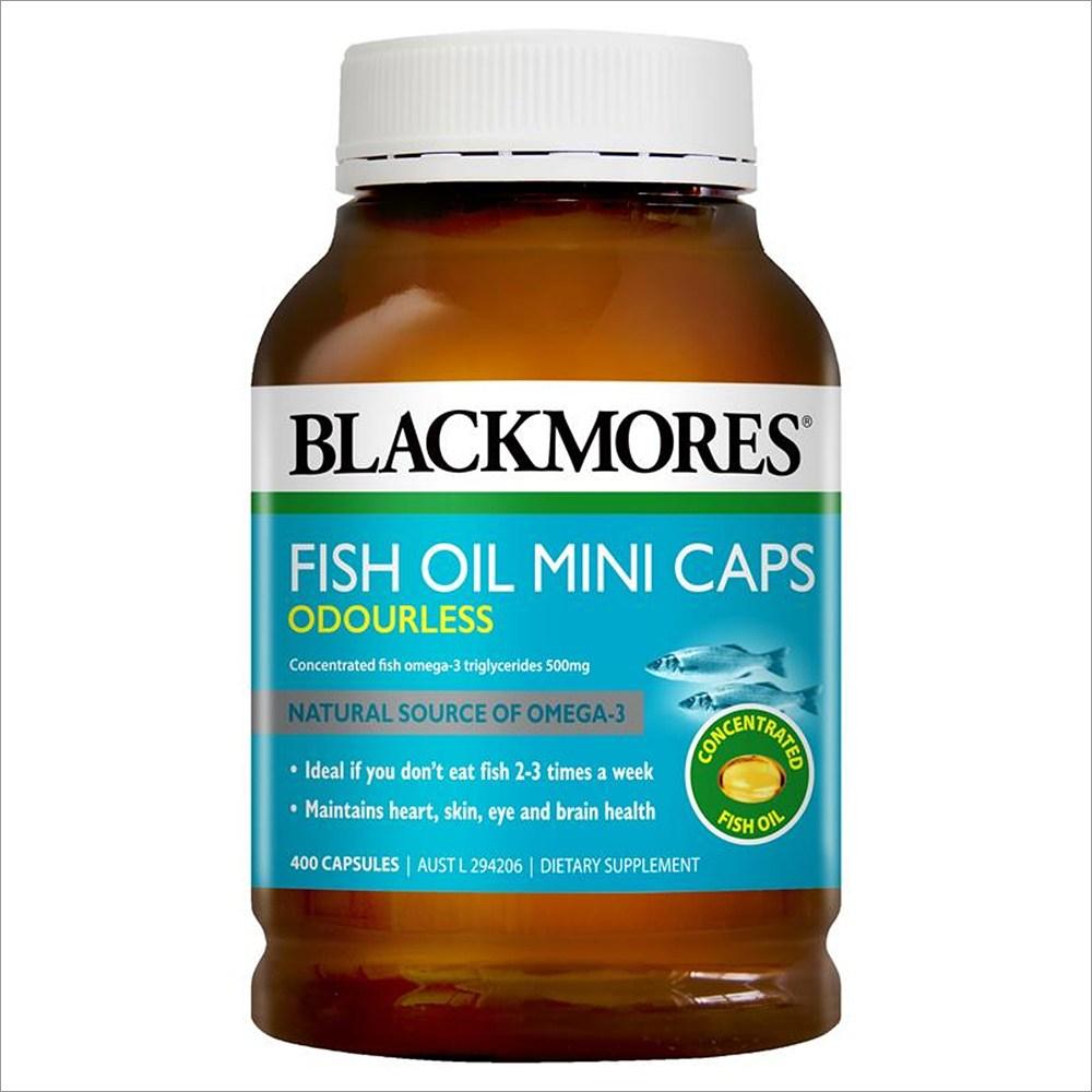 Blackmores (호주직배) 블랙모어스 냄새없는 작은캡슐 피시오일 오메가3 400정 Odourless Fish Oil 400 Mini Capsules, 1개