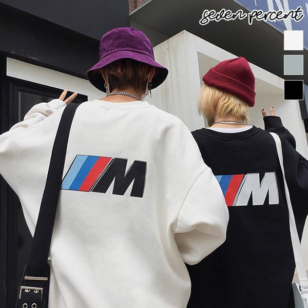 세븐퍼센트 기모 맨투맨_남녀공용 컬러 M 퍼포먼스 쮸리 오버핏 맨투맨