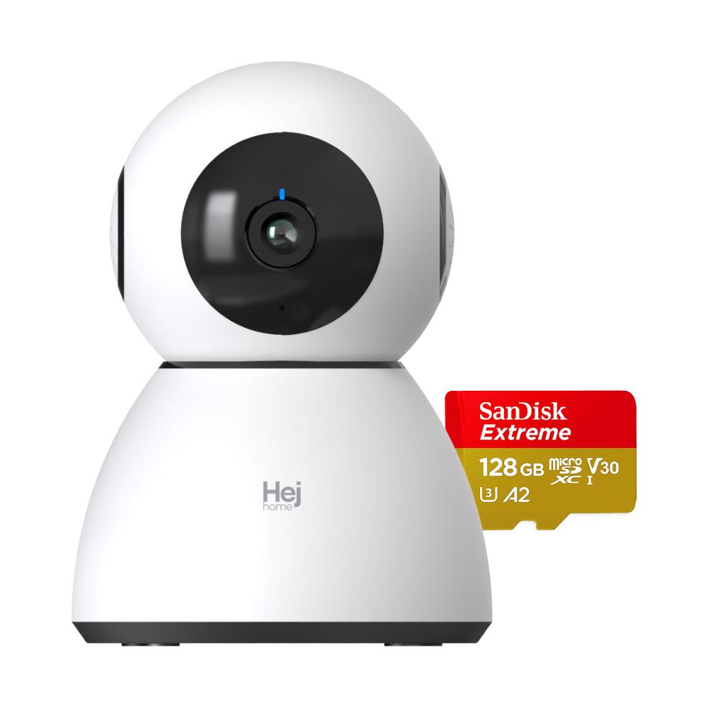 헤이홈 스마트 홈카메라 PRO+ GKW-MC052 실내용, 홈카메라PRO플러스 + 128G SD카드(SanDisk익스트림)