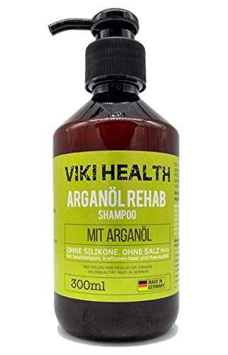 Neverland Beauty & Health 탈모두피에센스 조세호 미용실 헤어토닉 세럼 남자머리 Viki Healt Argan 오일 샴푸-실리콘 염분 및 파라벤 없음-건성 손상된 모발용-볼륨 용-귀중한 하이드 록시 셀룰로오스 독일 브랜드 제품 무 실리콘-41553, 단일옵션, 단일옵션