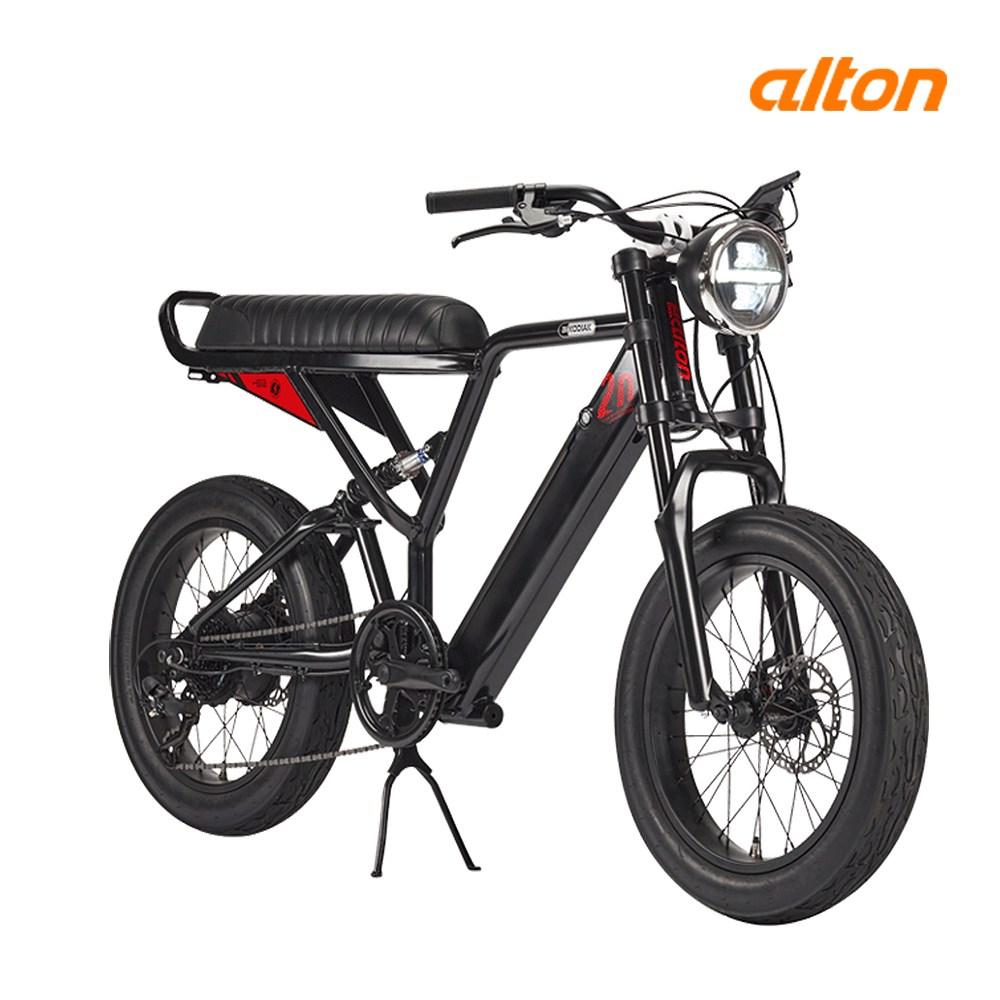 알톤스포츠 2020년형 알톤 코디악20FAT 오토바이형 전기자전거, 블랙 - 파스/스로틀겸용