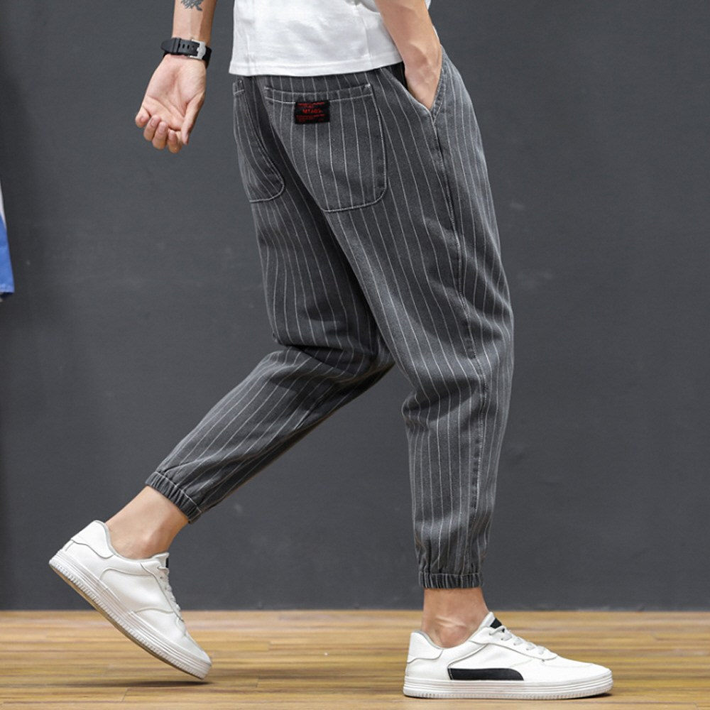[제로의옷장]남자면바지 스트라이프 조거팬츠 MH0826L11