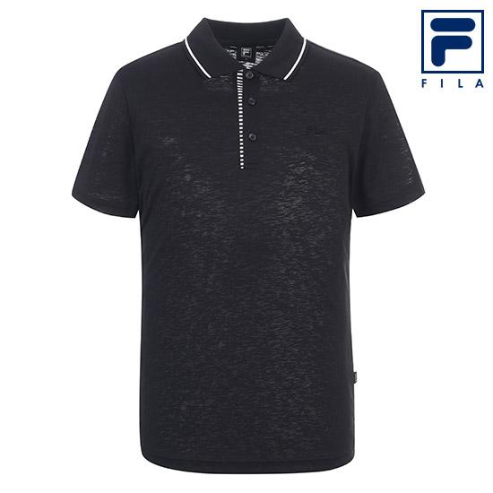휠라 남성 카라 티셔츠 FI4MTA2131M_BLK, 블랙