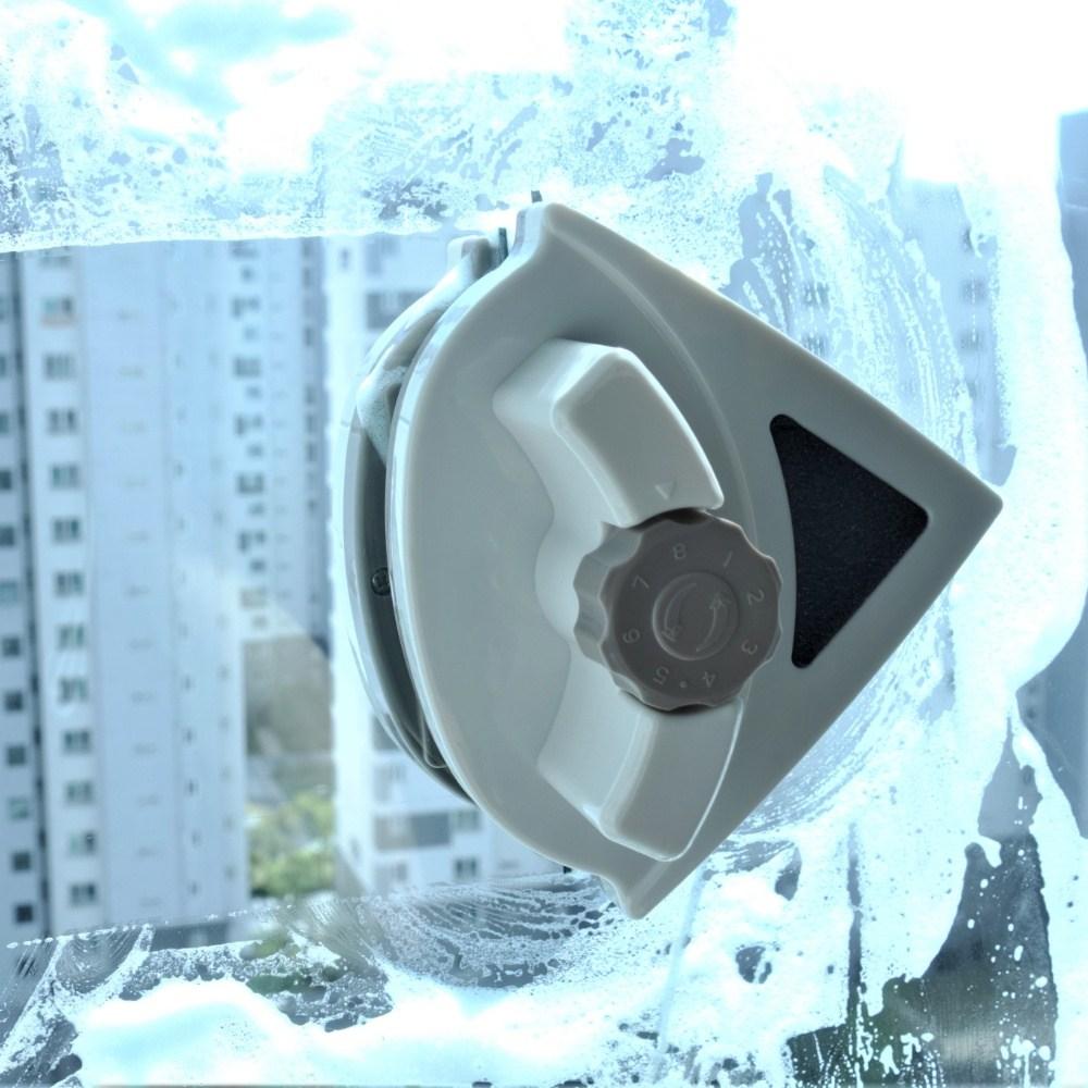 노마인드 베란다 창문 청소 도구 아파트 유리창 창문닦기 자석창문닦이 외창 유리창닦이 (5-25mm용), 1개