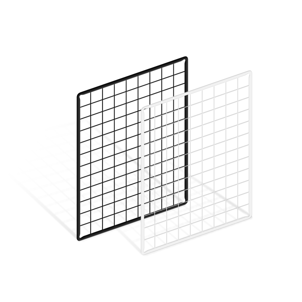 위드금창 메쉬망 450x600mm 다용도 인테리어 벽선반 휀스망 철망, 450x600mm 화이트, 1개