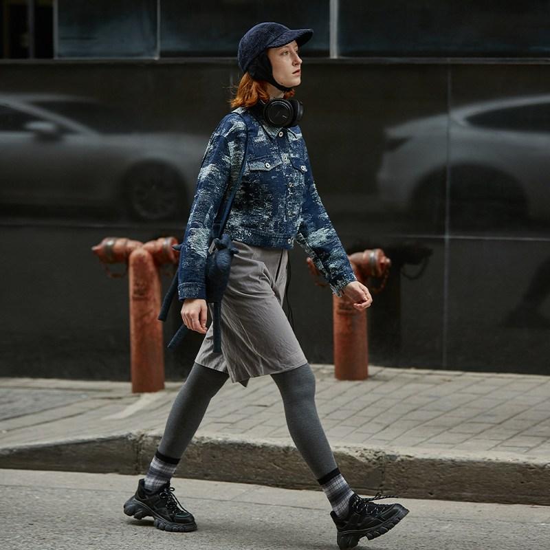화과 오리지널제작 디자인 여성의류 트렌드 와이드 루즈핏 숏 봄가을 카고
