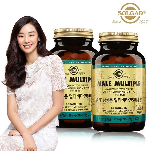 [현대백화점][솔가] 남성용 멀티비타민 미네랄 (60정) x 2병, 단일속성, 없음